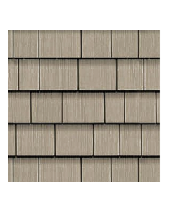 "Celect - Shake Panel Siding - Frost - 21/Box - 7""X49.5"""