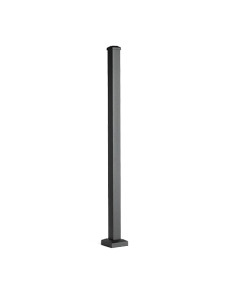 "Trex Signature - 2.5""X2.5"" Post with Cap & Skirt - Horizontal - IRC Compliant - Charcoal Black - 43"""