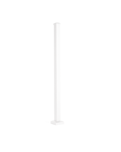 """Trex Reveal - 2.5""""X2.5"""" Post with Cap & Skirt - Stair - Classic White - IRC Compliant - 53"""""""