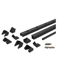 "Trex Signature - 6'X42"" Rail Kit with Square Balusters - Stair - Charcoal Black - 72"""