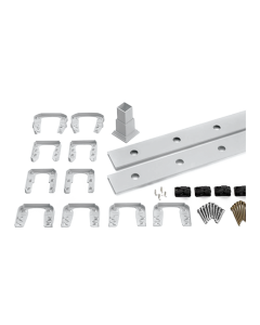"""Trex Transcend - 8' Accessory Infill Kit for Round Aluminum Balusters - Horizontal - Classic White - 91.5"""""""